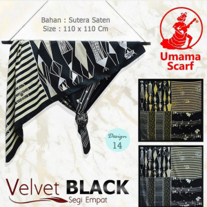 jilbab velvet black
